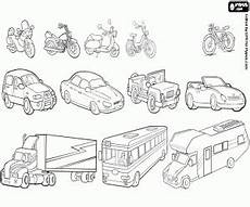 road vehicles coloring pages 16417 travelling by road coloring pages printable