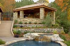 Gartenhaus Mediterranen Stil - a large hillside pavilion walnut creek ca