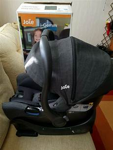 Joie I Gemm Car Seat In Pavement Colour With Isofix Base