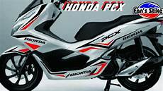 Variasi Honda Pcx by Stiker Variasi Honda Pcx Putih