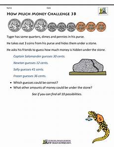 working with money worksheets grade 3 2555 printable money worksheets 3rd grade money challenges