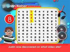 justin bieber word search youtube