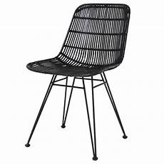 chaise rotin noir hk living interiors