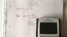 gewicht berechnen stahl physik berechnung der dichte die formel