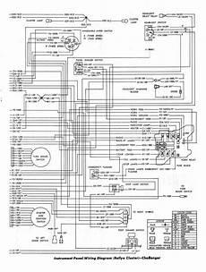 Dodge Challenger 1970 Instrument Panel Wiring Diagram