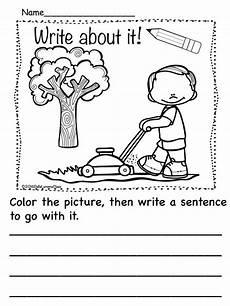 picture composition worksheets for kindergarten 22758 kindergarten writing prompts household chores kindergarten writing prompts kindergarten
