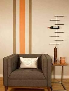 vintage vertical wall stripes orange and brown palette