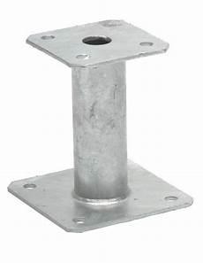 pied de poteau fixe platine 150x150 mm 233 p 4 mm