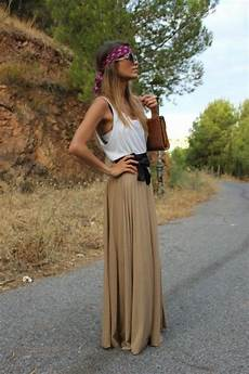 look hippie femme comment porter une jupe longue mode mode jupe et robe