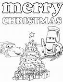 Disneys Cars Christmas Coloring Page  H & M Pages