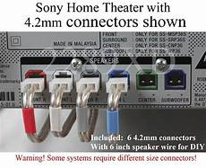 home audio subwoofer wiring configurations 6c 4 2mm speaker cable wire connectors made for select sony home theater ebay