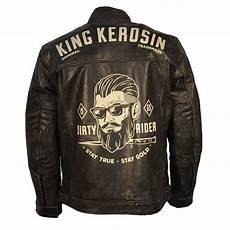 king kerosin biker leather jacket rider black