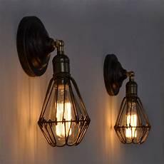 loft cage wall ls vintage industrial bird cage wall lights edison fixture indoor lighting