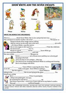 tale riddles worksheet 15039 fairytale snow white text fill the gaps worksheet free tale printable