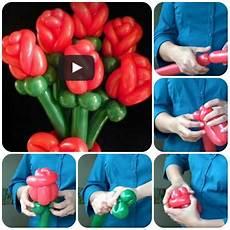 sculture di palloncini fiore come fare con i palloncini tutorial