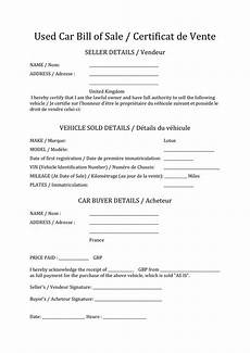 certificat vente de véhicule certificat de vente d un vehicule doc pdf page 1 sur 1
