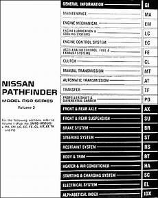 car repair manuals online pdf 1999 nissan pathfinder engine control 1999 nissan pathfinder repair shop manual original 2 volume set