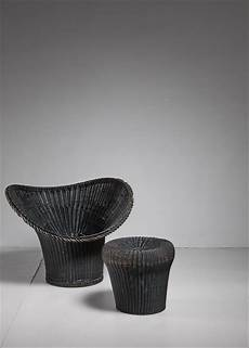 egon eiermann korbsessel chair and stool germany 1958