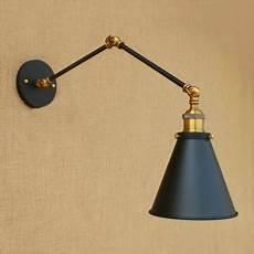 swing arm small wall sconce retro style steel single light wall light fixture in brass