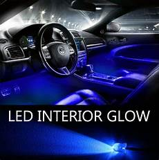 glowing interior blue led lights 20 pack interior glow lighting car truck