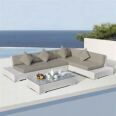 salon de jardin design blanc salon de jardin maldives blanc taupe 5 places salon de
