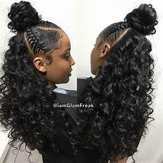 bbw braids bun weave 18 quot 20 quot 22 quot glam wave wand curls birthday hair for my boo humbleeash