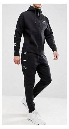 nike air vlies trainingsanzug herren schwarz fleece jacke