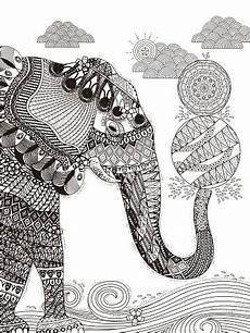 40 ausmalbild elefant erwachsene besten bilder