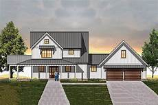 house plans with detached garages modern farmhouse plan with semi detached garage 18850ck
