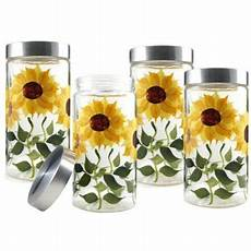 sunflower canisters for kitchen grant howard 58 ounce sunflower glass canister