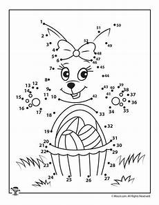 Vorschule Malvorlagen Junior Easter Bunny And Basket Dot To Dot Malvorlagen Ostern