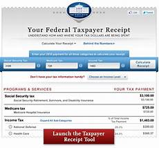 online tax receipt the white house