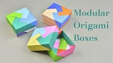 3 easy modular origami boxes tutorial creative diy