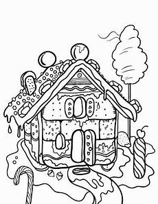 24 gingerbread house coloring page in 2020 house