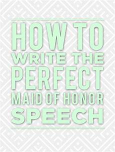 How To Write A Of Honor Speech