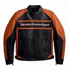 Ebay Harley Davidson Leather Jackets by Harley Davidson Mens Octane Leather Jacket Black Orange
