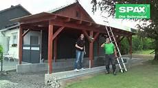 carport bauen mit spax