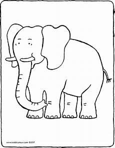 Malvorlage Kleiner Elefant Elefant Kiddimalseite