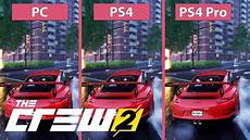 4k the crew 2 pc max vs ps4 vs ps4 pro graphics