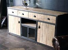 meuble palette pas cher meuble bois et metal buffet bois de palette et acier