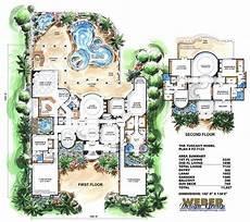mediterranean house plans with pools mediterranean house plan 2 story waterfront mansion floor