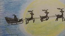 weihnachtsmann schlittenfahrt malen draw santa s sleigh