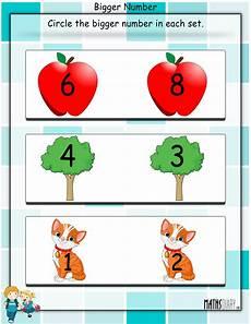 circle the bigger number math worksheets mathsdiary com