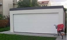 garage 2 places garage m 233 tallique toit plat cr 233 pis 2 voitures porte large