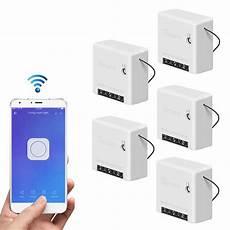 5pcs Sonoff Mini Smart Switch Ac100 5pcs sonoff mini two way smart switch 10a ac100 240v works