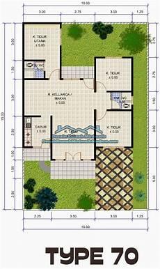 Denah Rumah Minimalis Type 70 1 Lantai Bisa Jadi