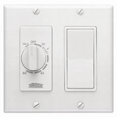Home Depot Bathroom Fan Timer by Broan Nutone 15 60 Minute In Wall Timer With