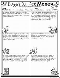 printable money worksheets for 5th grade 2737 fractions decimals money math word problems money math math words