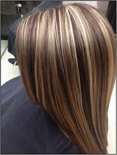 Brown Hair With Chunky And Auburn Highlights