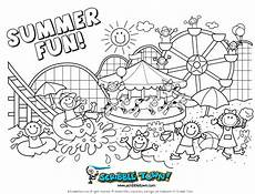 summer coloring pages for free large images